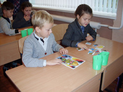 In Zolochevskii, third graders traveled to the Country of Occupations