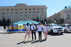 A photo exhibition dedicated to the International Refugee Day was opened in Kharkiv