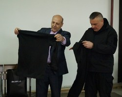 "Kyiv region gave Mihratsiynyky thermal underwear sets for men Regiment ""Peacemaker"""