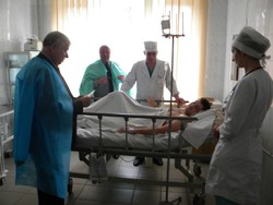 Financial charity seriously injured in Mariupol senior soldier Lizen Ivan V.