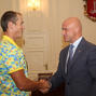 Gennady Truhanov met with the gold medalist of 2016 Olympics, Yuri Cheban from Odessa